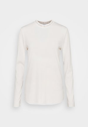 LOGO LONG SLEEVES - Long sleeved top - white sand