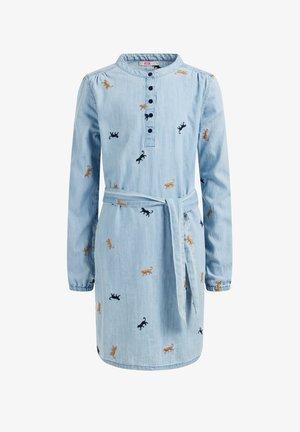 MET EMBROIDERY - Sukienka koszulowa - blue