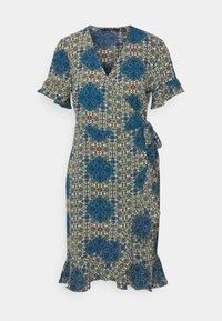 VMSAGA WRAP FRILL DRESS  - Day dress - birch/esmeralda