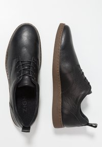 Zign - LEATHER - Casual lace-ups - black - 1