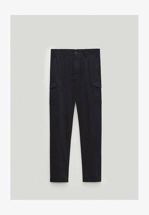 Cargo trousers - blue-black denim