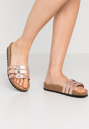 SLIDES - Slippers - rose gold