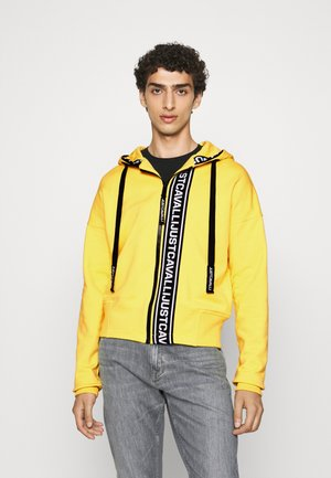 FELPA CON ZIP - veste en sweat zippée - vibrant yellow