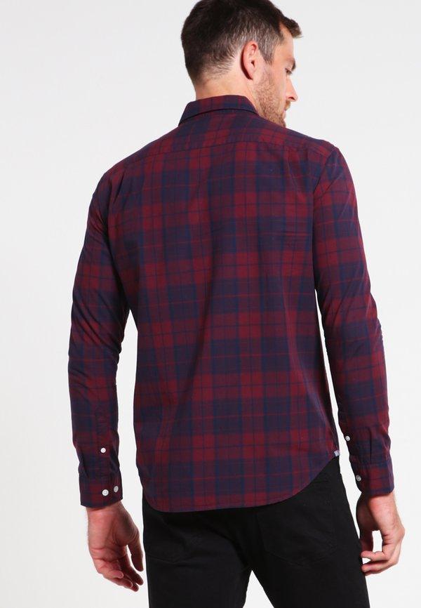 Pier One Koszula - dark blue/bordeaux/granatowy Odzież Męska YSYW