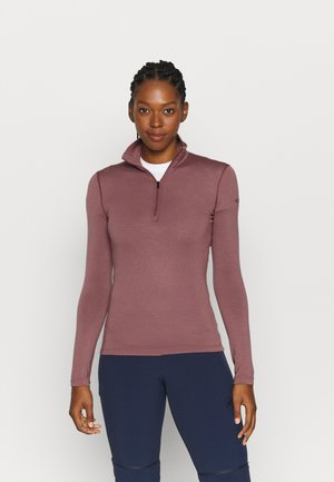 TECH HALF ZIP - Long sleeved top - pink
