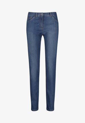 Slim fit jeans - dark blue denim mit use