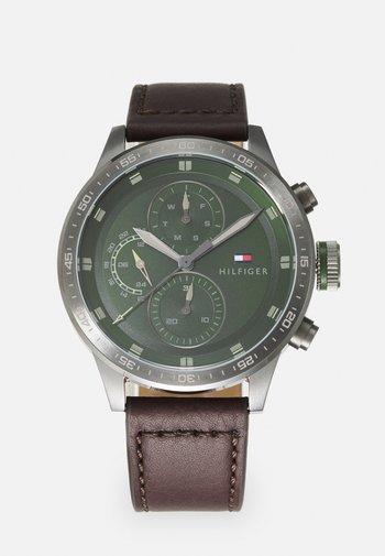 TRENT - Watch - brown/green