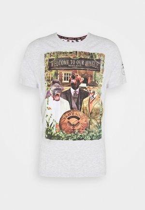 JEEVES - Print T-shirt - ecru marl