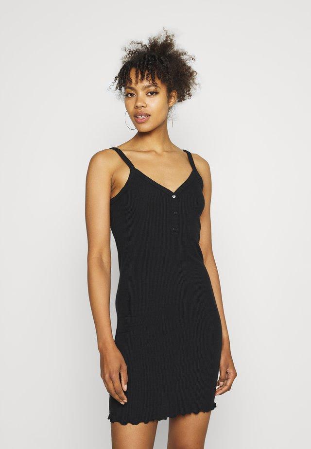 VMARIA SINGLET SHORT DRESS - Pouzdrové šaty - black