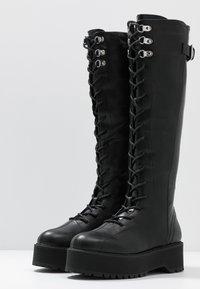 Even&Odd - Botas con cordones - black - 4