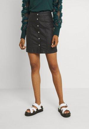 ONLCASSIE ROCK COAT BUT SHAPE - Mini skirt - black
