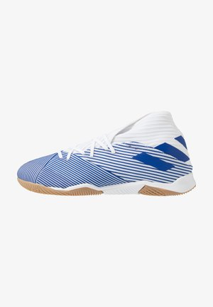 NEMEZIZ 19.3 IN - Indoor football boots - footwear white/royal blue
