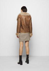 STUDIO ID - PHILIPPA JACKET - Leather jacket - camel/light camel - 2