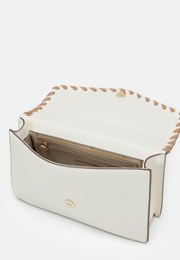 DKNY - ELISSA SHOULDER FLAP - Across body bag - white/sand castle - 2