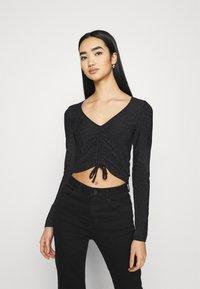Monki - OLLE - Long sleeved top - black dark - 0
