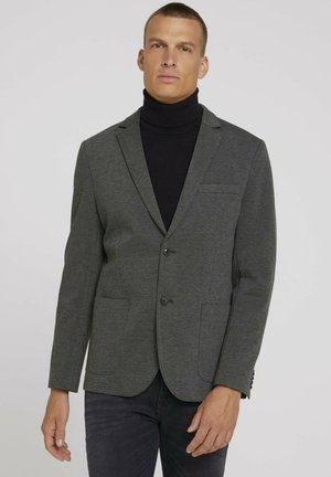 Blazer jacket - grey rhomb melange structure