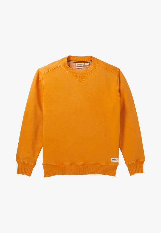LAMPREY RIVER GARMENT DYE CREW NECK - Collegepaita - dark cheddar