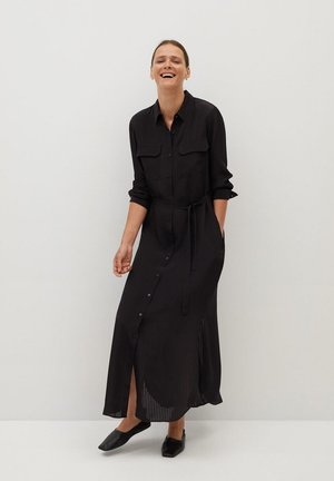 ROBE CHEMISIER LONGUE - Shirt dress - noir