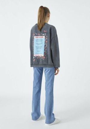 Sweatshirt - mottled dark grey