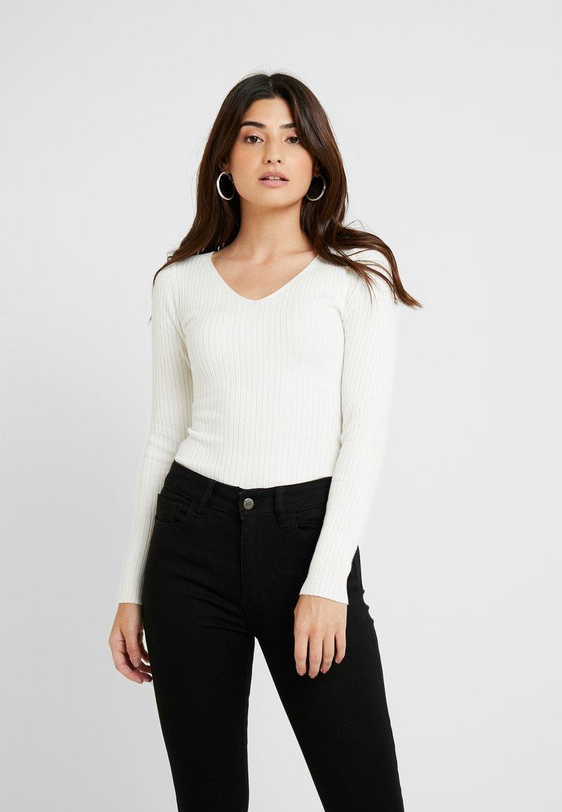 Even&Odd Petite - Stickad tröja - white
