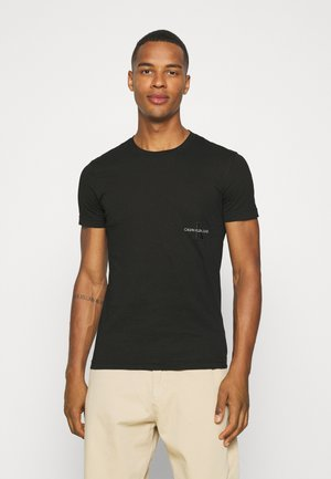 OFF PLACED ICONIC TEE UNISEX - T-shirt imprimé - black