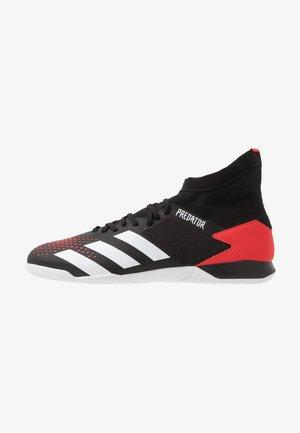 PREDATOR - Indoor football boots - core black/footwear white/active red