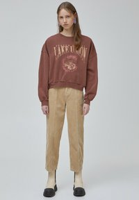 PULL&BEAR - Mikina - light brown - 1