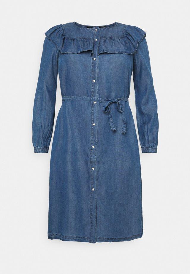 VMLUND ABOVE KNEE DRESS  - Spijkerjurk - medium blue denim