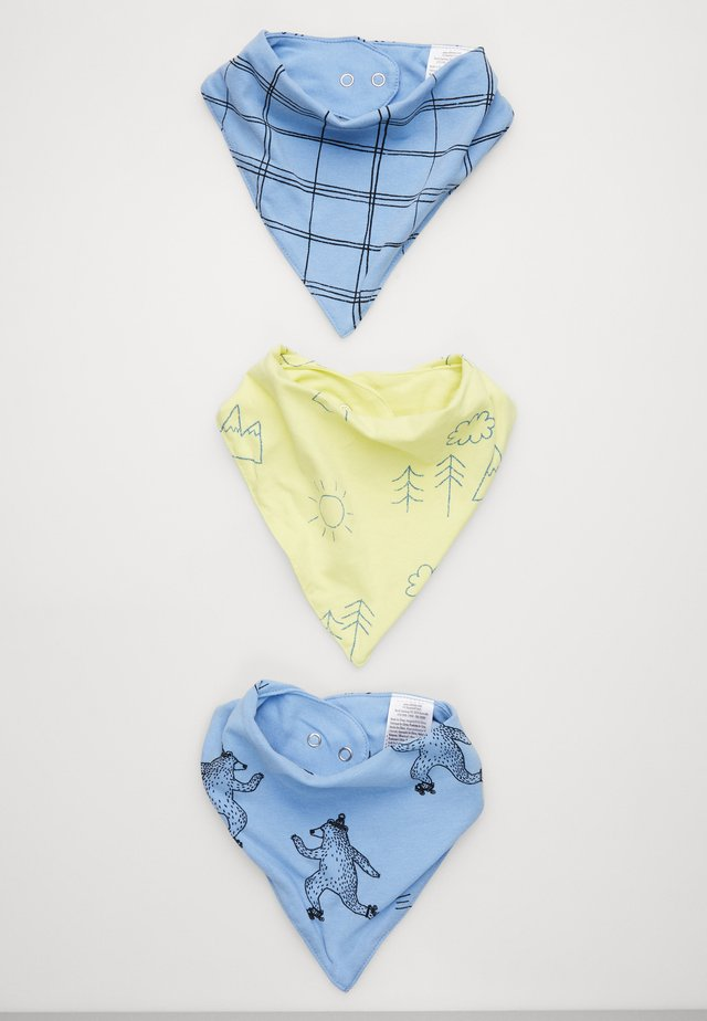 KERCHIEF 3 PACK - Hagesmæk - summer wilderness/skating bear/sketchy grid