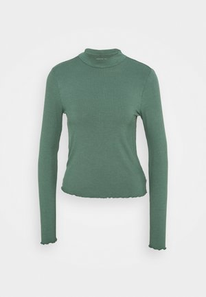 MOCK NECK TEE - Top sdlouhým rukávem - green