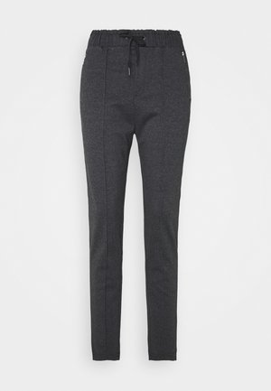 HOUNDSTOOTH PANTS - Kangashousut - black grey