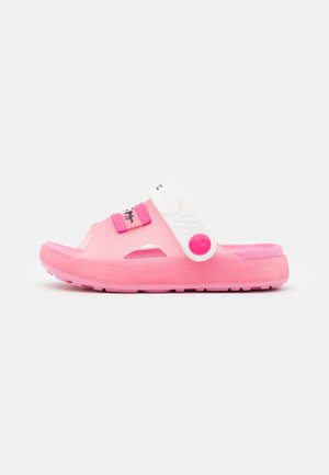 Pool slides - pink/white
