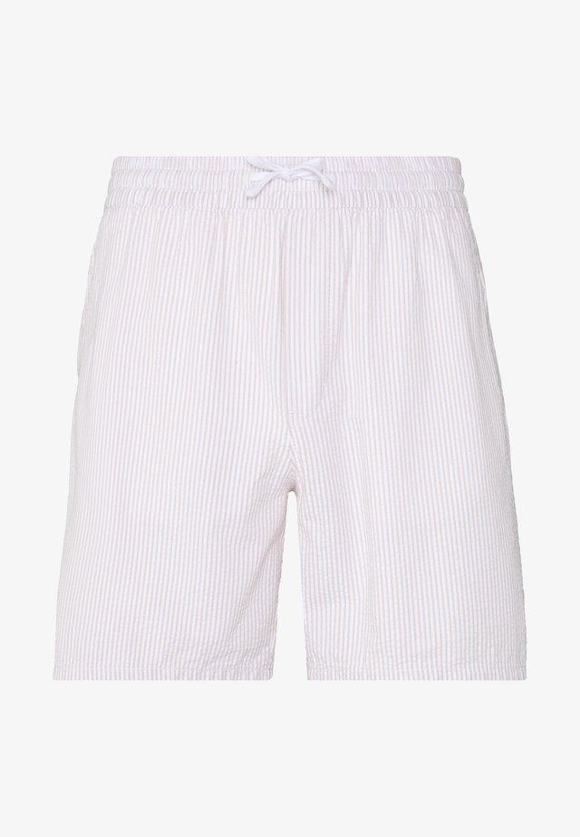 OLSEN  - Shorts - beige/white