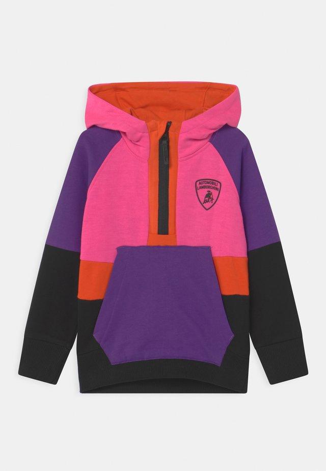 MULTICOLOR HALF ZIP - Sweater - pink johor