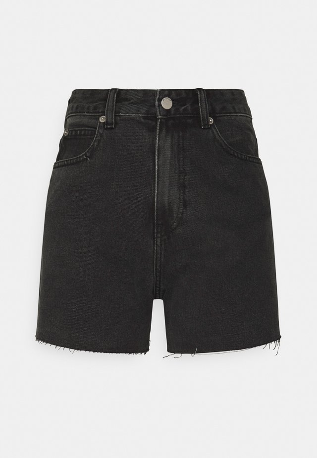 NORA - Denim shorts - charcoal black