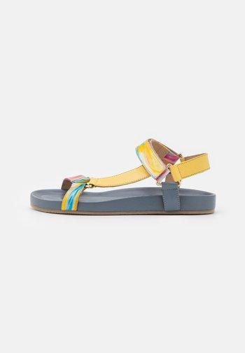 PEACE - Sandals - blue/multicolor