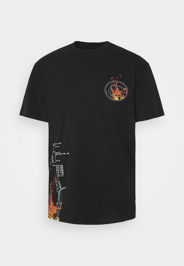 WIRE FLAME TEE - T-Shirt print - black