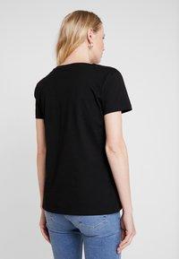 Alpha Industries - BASIC T SMALL LOGO - T-shirt basic - black - 2