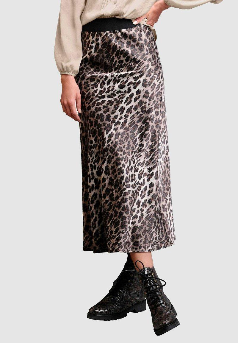 Alba Moda - Maxi skirt - braun,sand,schwarz