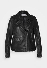 JRAVIDA JACKET - Leather jacket - black