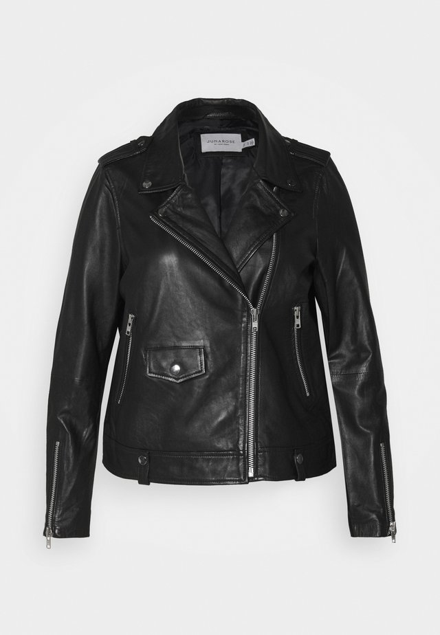 JRAVIDA JACKET - Leather jacket - black