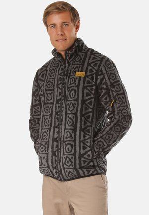 SOUND WAVES - Fleece jacket - black sound wave
