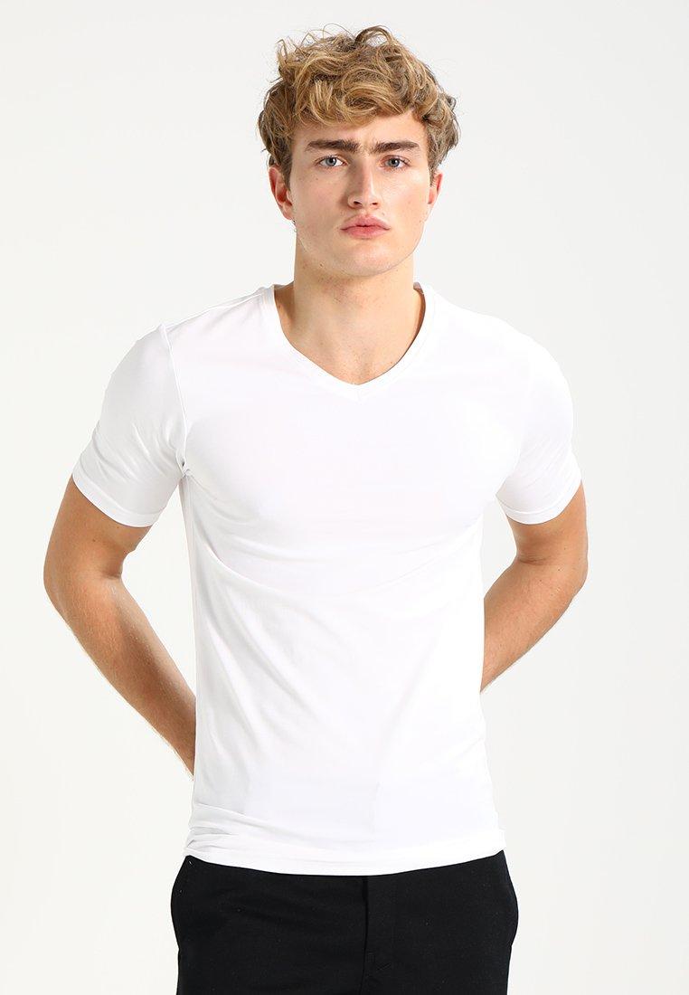 Only & Sons - ONSBASIC SLIM V-NECK - T-shirt - bas - white