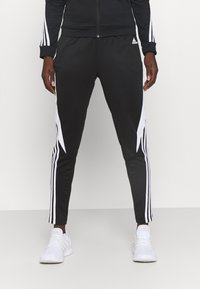 adidas Performance - COLORBLOCK - Tracksuit - black/white - 3