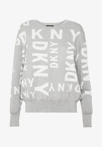DKNY - MIXED LOGO - Stickad tröja - avenue/ivy - 4