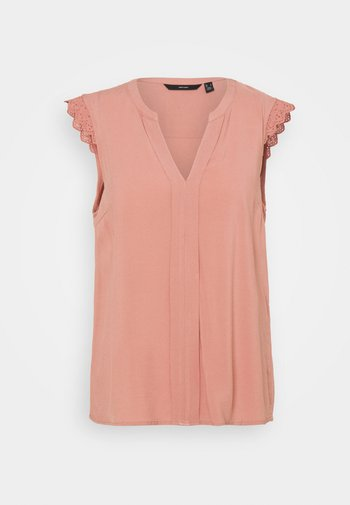 VMNADS LACE TOP COLOR - Pusero - old rose