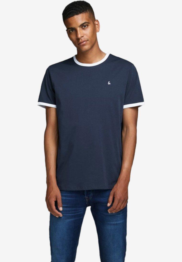Jack & Jones - KONTRASTDETAIL - Print T-shirt - navy blazer