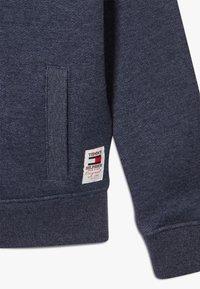 Tommy Hilfiger - BACK INSERT HOODED FULL ZIP - Zip-up hoodie - blue - 2