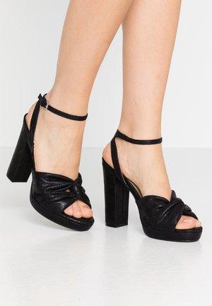 BOLLY TWIST PLATFORM - Sandály na vysokém podpatku - black