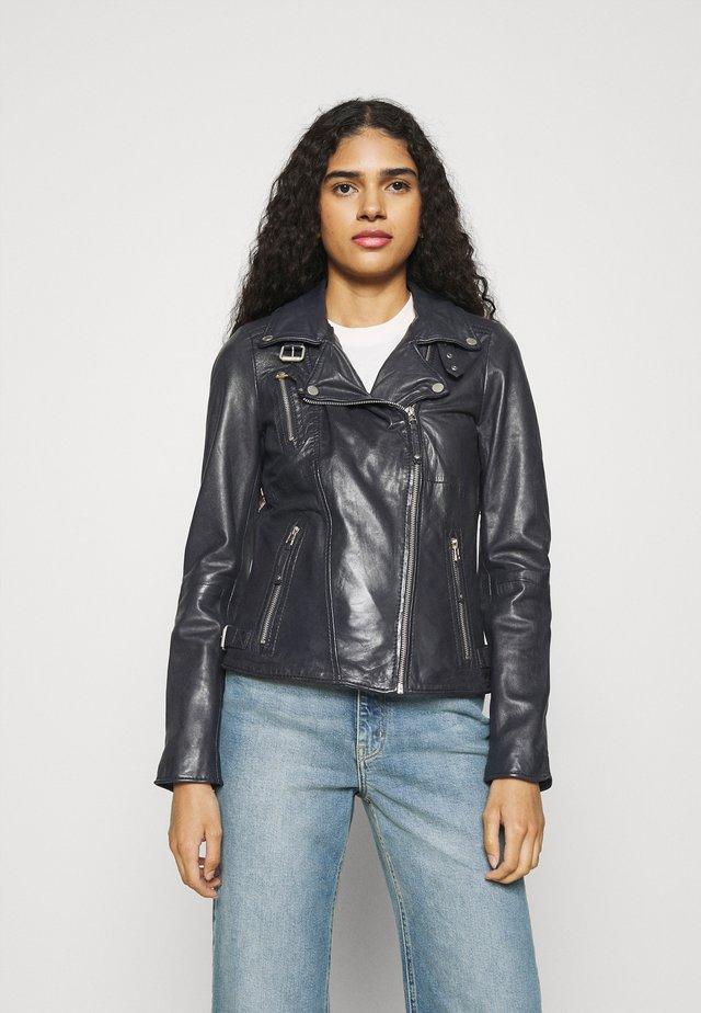 PRINCESS - Leather jacket - navy